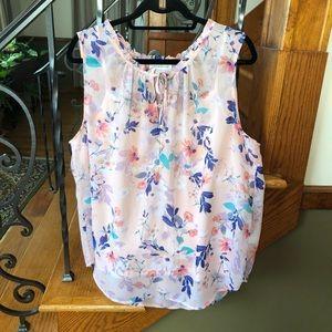 Liz Claiborne XXL Pink Floral Sleeveless Top